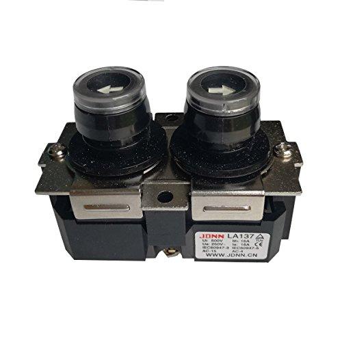 (LA137 16A Up Down Waterproof NO Push Button Switch Micro-electric Control Pushbutton Switches for Crane Electric Hoist 220VDC 380VAC (LA137-B))