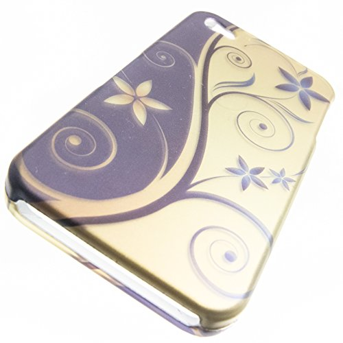 Apple iPhone 4 Cover Case by ShockWize; Imago Series (snap together 2 piece) Featuring designs and artwork that bring artsy creative depictions, animal prints, and cartoon characters to life, while form fitting hard plastic ensures the protection of your handheld investment iphone4 4s (IMGO) (elegant swirl blue gold)