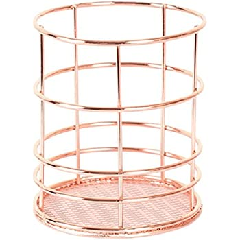Bronze Metal Wire Pen Pencil Holder Makeup Brush Cups Container Wired Mesh  Desk Stationery Supplies Organizer For Office Home School Amazon Com  Superbpag ...