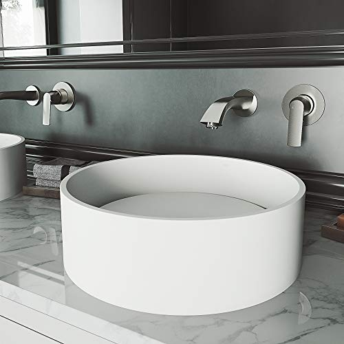 VIGO VG04016 Anvil Matte StoneTM Vessel Bathroom Sink