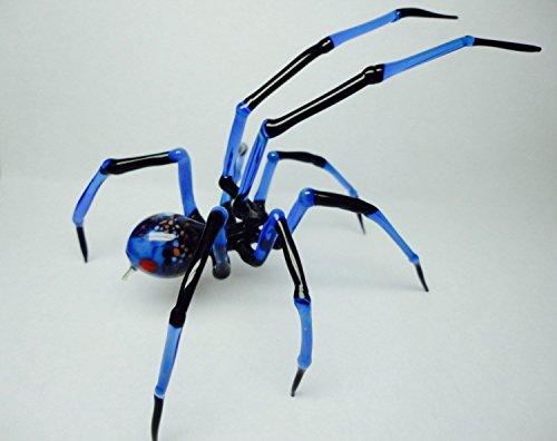 Spider - lampworked lifelike glass arachnid spider figurine, glass insect, Art Glass Spider, blown glass figurine Spider, glass insects - Glass Spider