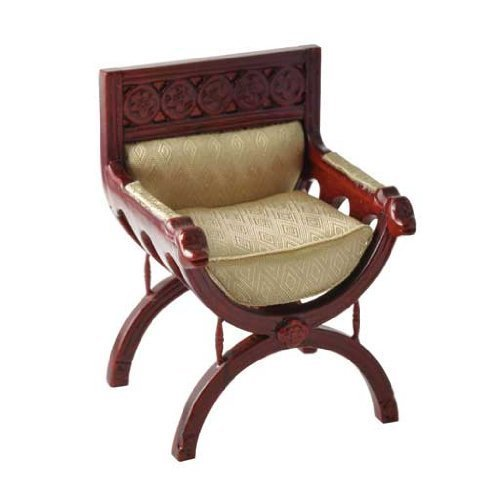 Renaissance Cross Collection (Dollhouse Miniature Renaissance Cross Frame Chair)