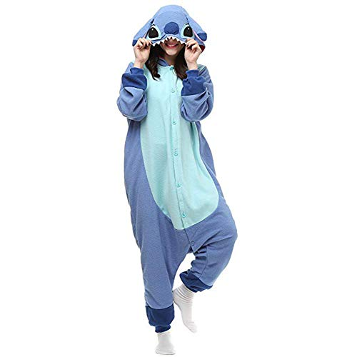 Unisex-Adult Onesie Stitch Pajamas Christmas Party Cosplay Animal Costumes Sleepwear -
