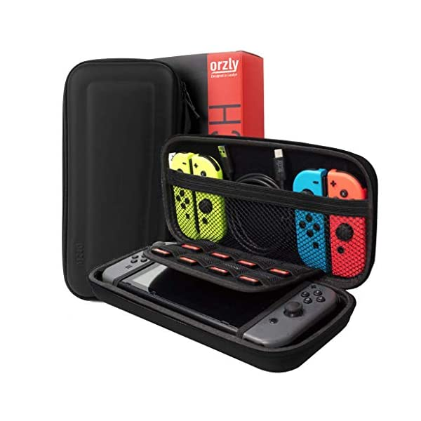 Switch Accessories Bundle - Orzly Essentials Pack for Nintendo switch Case & Screen Protector, Grip Case, Games Holder… 2