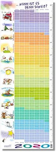 """Stikkipix Kinderzimmer Kalender 2020""""Wann ist es soweit - Kalender für Kinder 2020 mit integrierter Maßtabelle/Maßband"""