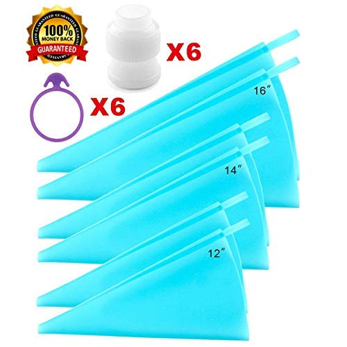 Piping Bags, Icing Bags, Pastry Bags,3 Sizes Cake Decorating Bags Tips Tools(12