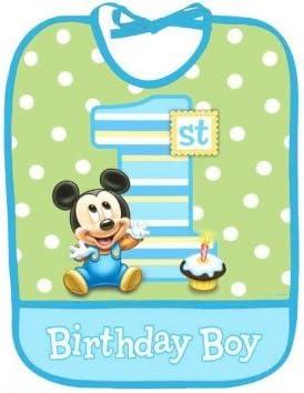 Surprising Amazon Com Bib Baby Mickey Mouse Birthday 1St First Party Funny Birthday Cards Online Necthendildamsfinfo
