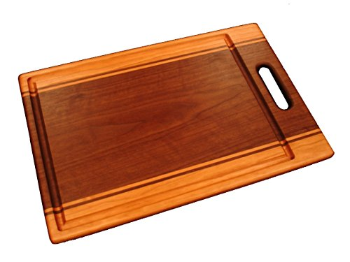 - Expression Series Large Cutting Board with Handle - Cherry & Walnut