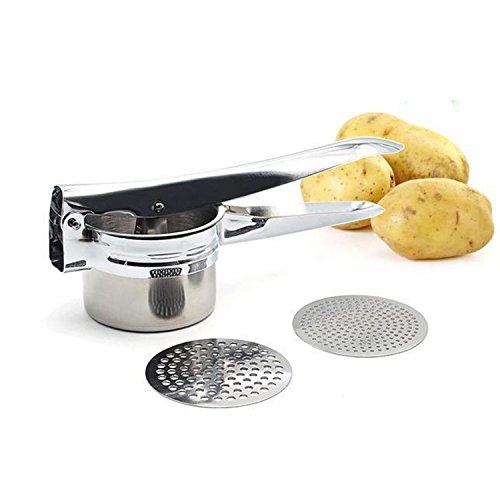 Stainless Steel Potato Masher Ricer Fruit Juicer Cooking Tools For Creating Smooth Creamy Mashed Used Juicing Fruits And Making Your Own Homemade Baby Food