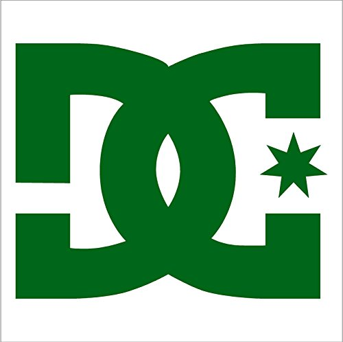 DC Shoe Company vinyl decal sticker , Forest Green
