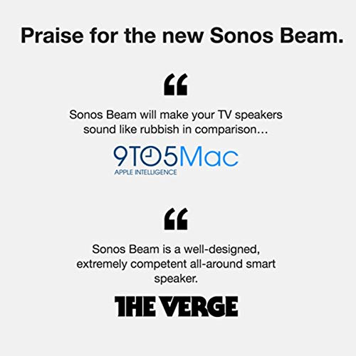 All-new Sonos Beam – Compact Smart TV Soundbar with Amazon Alexa voice control built-in. Wireless home theater and streaming music in any room. (Black)