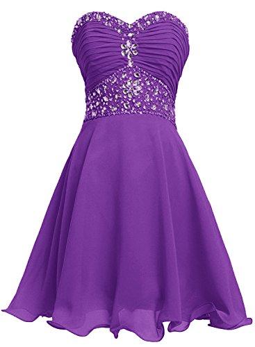 Bbonlinedress Boda Vestido De Noche Corto Fiesta Violeta Corazón Gasa Escote Mujer BCBr7Xqw