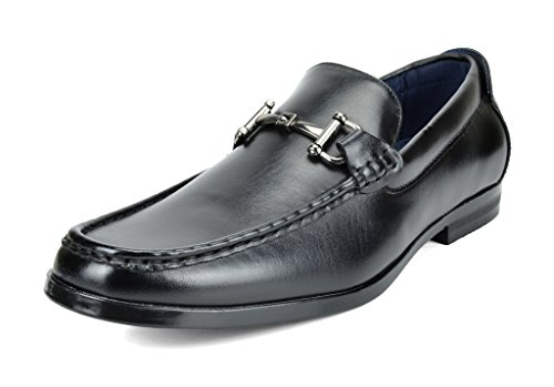 Bruno Marc Men's Harry-01 Black Dress Penny Loafers Shoes - 11 M US