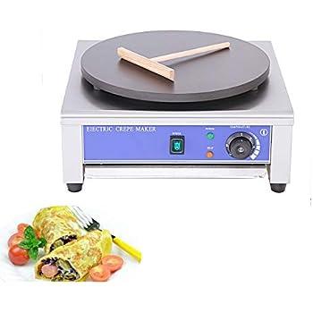 Commercial Electric Crepe Maker Pancake Machine Single Hotplate Non Stick For Pancakes Eggs Blintzes