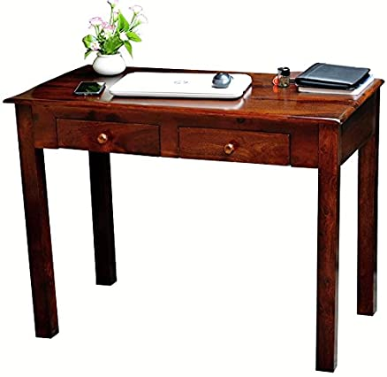 mubell ariel study table with two drawers in solid wood amazon in