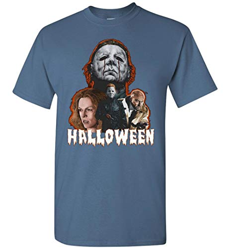 Michael Myers Halloween Horror Movie Dr. Loomis Laurie Adult and Youth T-Shirt ()