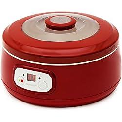 Oursson FE1502D/RD Yogurtiera da 5Vasetti, Rosso, 1l, 20W