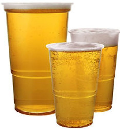100 x Clear 1/2 Half Pint Strong Plastic Beer Cups Glasses Disposable Flexible Tumblers by Thali Outlet - Leeds Outlet