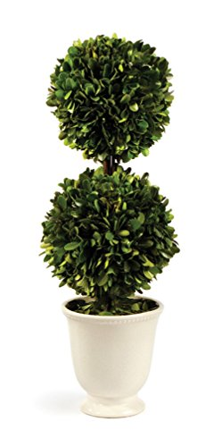 Preserved Boxwood Double Ball Topiary in Beaded (Spring Topiary)