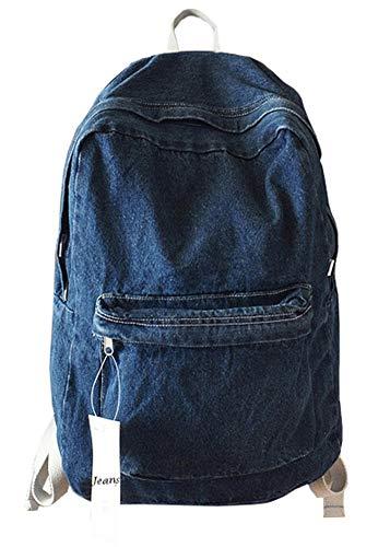 College School Denim Backpack Student Laptop Backpack for School for Teenage College School Bags Backpacks Girls Denim Cute Bookbags Student Backpack School Laptop Backpack Bag Pack Super Cute for School for Teenage (Dark Blue) 413115ZYRlL