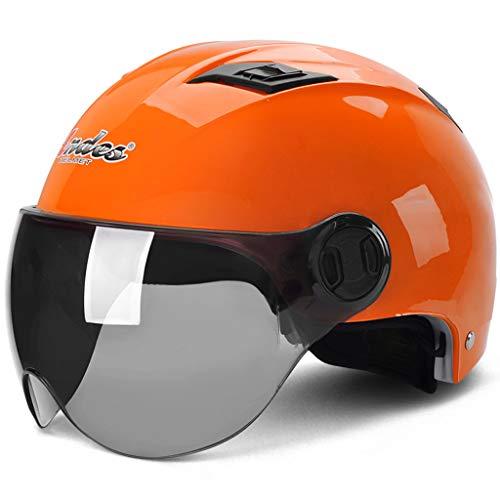 LTOOTA Motorcycle Vintage Half Helmets Motorcycle Biker Cruiser Scooter Touring Helmet Summer Helmet for Men and Women - Womens Helmet Cruiser