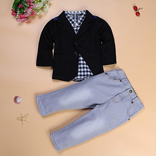 Baby Boy's Clothes, Mchoice 1Set Kids Boys Business Suit+Shirt Tops+Trousers Children Clothes Outfits (6~7 Years old, Black) by MChoice (Image #4)