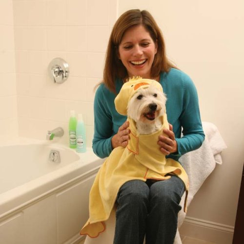 Dog Hooded Towel – Bath Cozy Towel for Dogs – Duck, My Pet Supplies