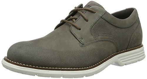 Rockport Tm Perfed Wingtip, Zapatos de Cordones Derby para Hombre Grau (grey Nbk)