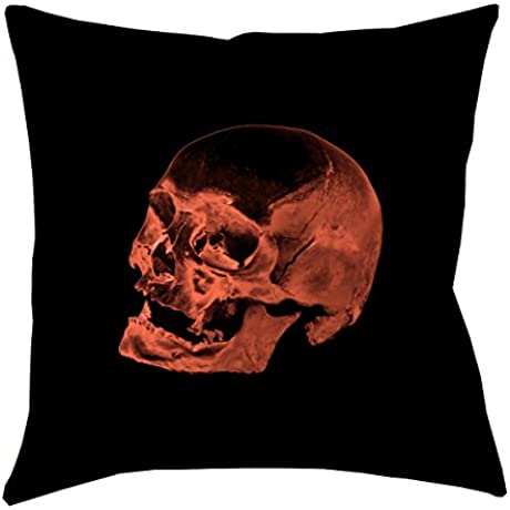 ArtVerse Katelyn Smith Red Skull X 40 Floor Pillows Double Sided Print With Concealed Zipper Insert