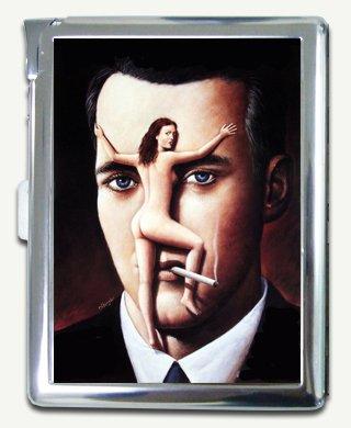 Nude On The Face Cigarette Case Lighter Wallet