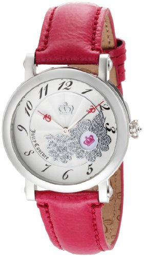 Couture Juicy Leather Pink (Juicy Couture Women's 1900668 Rotating Disc Pink Patent Leather Strap Watch)