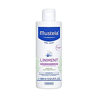 Mustela Liniment, Natural No-Rinse Baby Cleanser for Diaper Change, 13.52 Fl Oz
