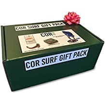 Cor Surf Gift Box Bundle (4 Items) Microfiber Changing Poncho | Wetsuit Changing Mat | Surfboard Wall Rack | Surf Wax All-in-one Gift Box