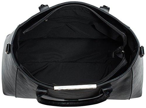 Buffalo BAG PU 01 W879 BWG Schwarz 1 Negro Black Bolso mujer 06 de material KID de sintético hombro rrqwdTtx