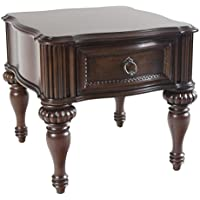 Homelegance Prenzo European Grand Design End Table with Drawer, Cherry