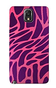 Eatcooment High-end Case Cover Protector For Galaxy Note 3(pink And Purple Leopard Fur)