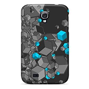 New Cute Funny The Cubes Blue Case Cover/ Galaxy S4 Case Cover