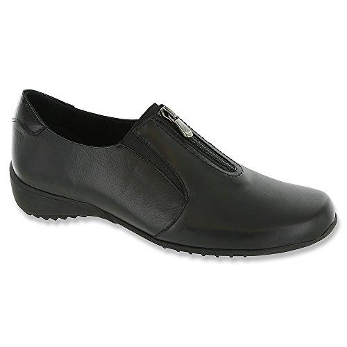 Munro Frauen Berkley Leder Loafers Schwarz Groesse 11 US/42 EU