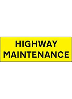 800 mm x 275 mm Caledonia Signs 56524 Highway Maintenance Reflective Magnetic Sign