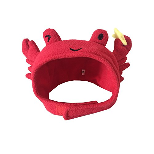Pineocus Pet Halloween Crab Shape Dog Costume Cap Lovely Hat L]()