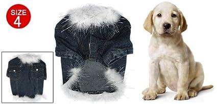 eDealMax piel de imitación de Los Pantalones Vaqueros del dril de algodón perro de mascota inútil