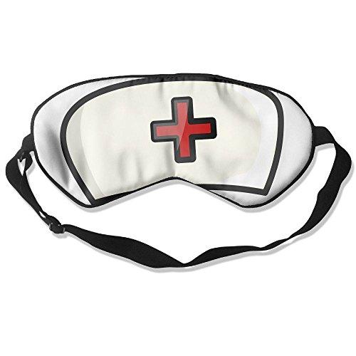 Sleep Eye Mask White Nurse Cap Lightweight Soft Blindfold Adjustable Head Strap Eyeshade Travel Eyepatch for $<!--$15.66-->