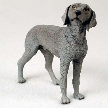 Weimaraner Standard Figurine Set of 6