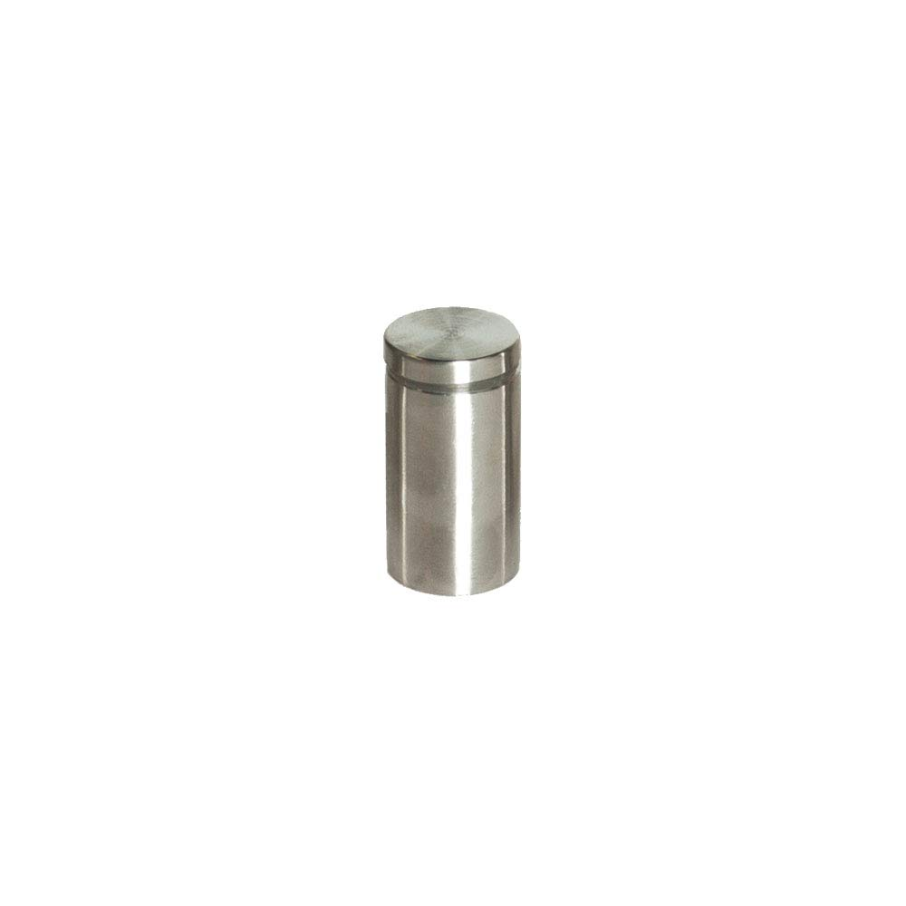 Stainless Steel Standoff 1 Inch Diameter x 2 Inch Barrel Length Brushed Finish for PVC, Glass and Acrylic Sign Stand Off Wall Anchors and Screws 4 Piece Pack for Heavy Signs