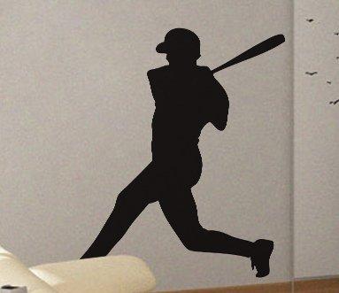 (Andre Shop Decals Vinyl Wall Decal Sticker Baseball Batter 3SX6)