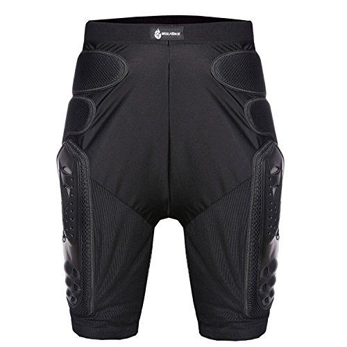 Men's Motorbike Motorcycle Protective Body Armour Armor Jacket Guard Bike Bicycle Cycling Riding Biker Motocross Gear Black (Pant Large)