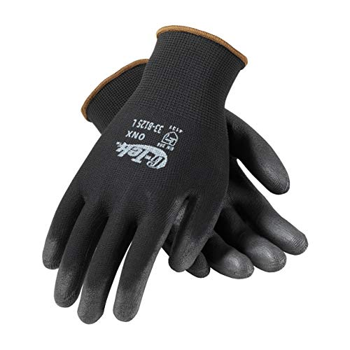 Liberty P-Grip Ultra-Thin Polyurethane Palm Coated Glove with 13-Gauge Nylon/Polyester Shell, X-Large, Black (Pack of 24) ()