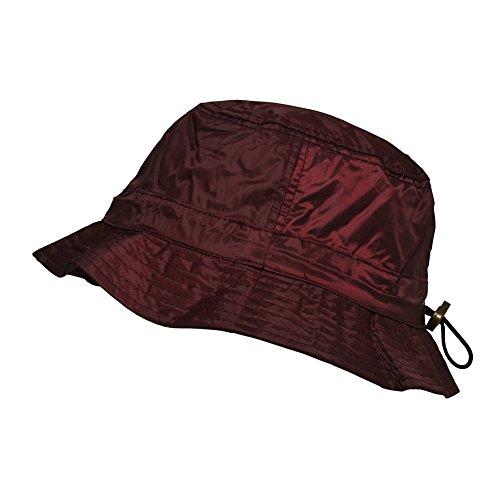 TOUTACOO, Waterproof Bucket Rain Hat in Nylon Bordeaux Red ()