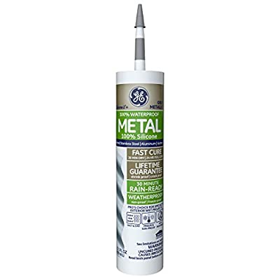 GE Momentive Performance Materials GE5050 2+ Specialty Silicone Adhesive, caulker, Metallic Gray