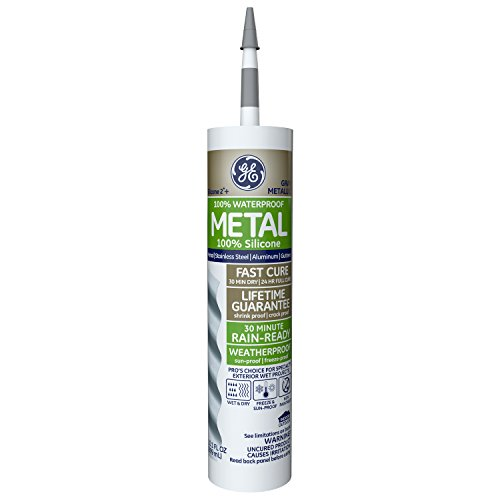 - GE GE5050 Silicone 2+ Specialty Silicone Caulk 10.1 oz. Tube  Metallic Gray